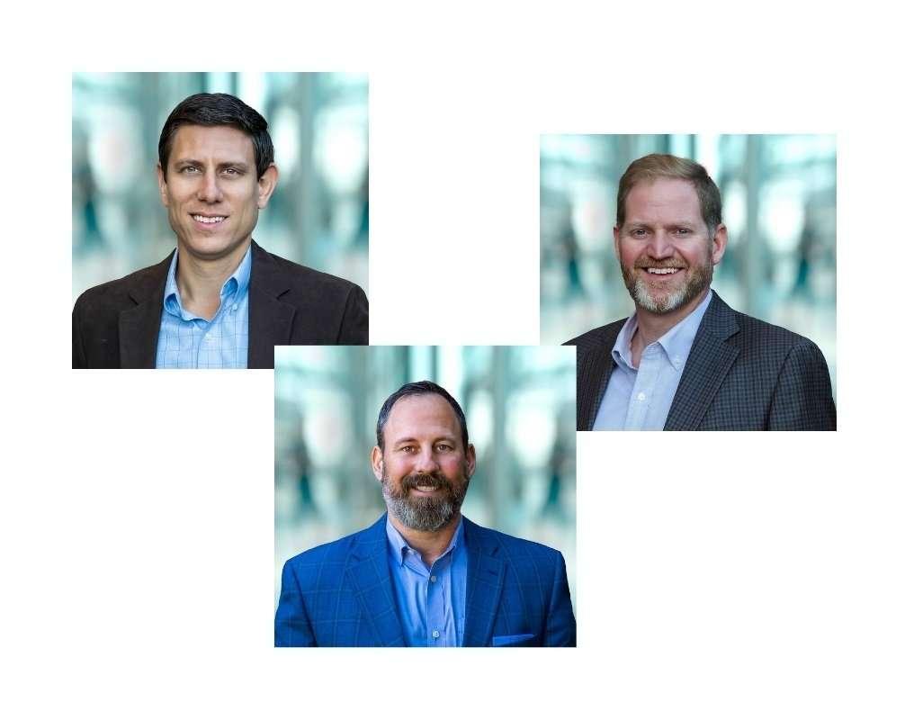 The Principals of Campos Engineering are Joseph Campos, Tony Casagrande, and Wesley McVey.